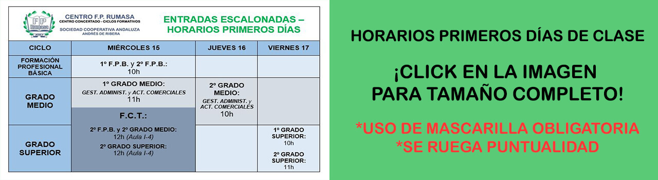 ENTRADAS ESCALONADAS CURSO 2021-2022 WEB
